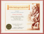 Award certificate from the New Mexico Book Association